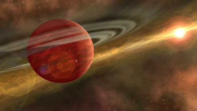 This is an artist's conception of a young planet in a distant orbit around its host star. (Photo: NASA/JPL-Caltech)