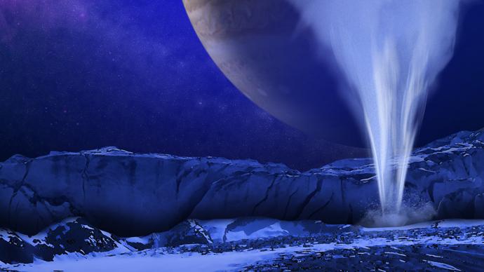 Jupiter's moon sprays water vapors 200km into air — RT News