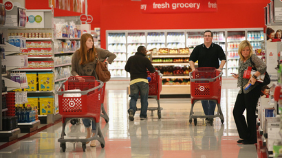 Customers shop at a Target store in Chicago, Illinois. (Scott Olson / Getty Images / AFP)