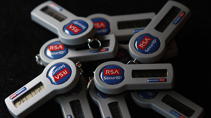 RSA SecureID electronic keys (Reuters / Michael Caronna)