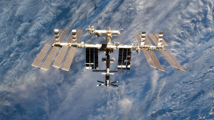 NASA handout image shows a close-up view of the International Space Station (AFP/NASA)
