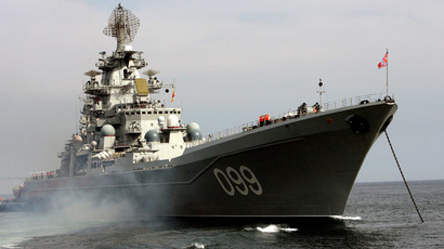 "The Arctic fleet's heavy nuclear-powered GM cruiser ""Peter the Great""  (RIA Novosti/Vitaliy Ankov)"