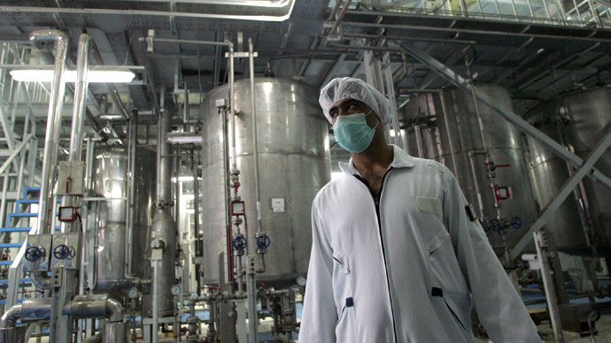 An Iranian technician works at the Isfahan Uranium Conversion Facilities (UCF), 420 kms south of Tehran (AFP Photo)