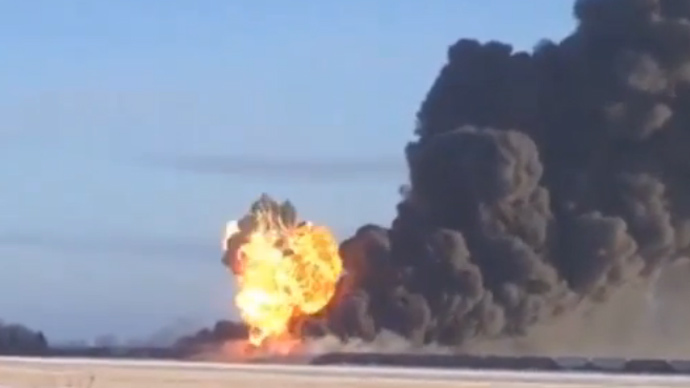 Massive explosion follows North Dakota train derailment, collision (PHOTOS, VIDEO)