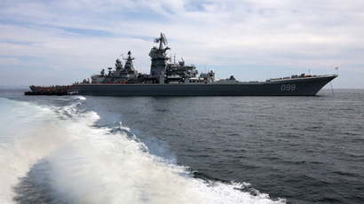 "The heavy nuclear-powered GM cruiser ""Peter the Great"" (RIA Novosti/Vitaliy Ankov)"
