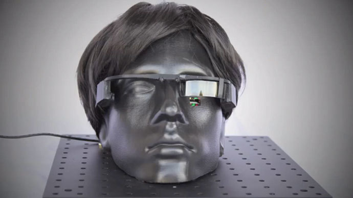 """240"""" TV in a contact lens: Revolutionary eyewear rivaling Google Glass to be unveiled"""