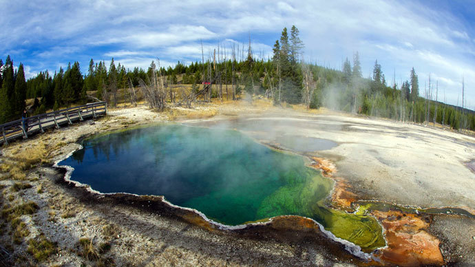 Yellowstone National Park in Wyoming.(AFP Photo / Karen Bleier)