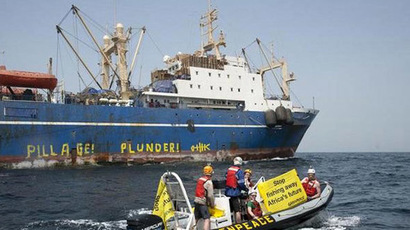Russian fishing vessel the Oleg Naydenov (archive) (Pierre Gleizes/Greenpeace)