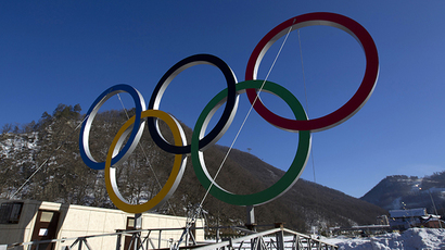 A view of Olympic rings near the resort of Krasnaya Polyana, near Sochi January 4, 2014. (Reuters / Maxim Shemetov)