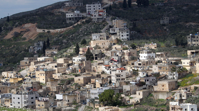 Jewish settlements near the West Bank village of Burin (AFP Photo / Jaafar Ashtiyeh)