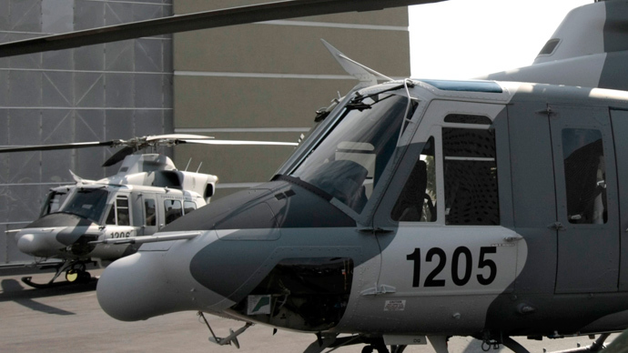 Two Bell helicopters 412 (Reuters / Henry Romero)