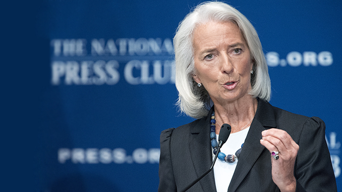 International Monetary Fund(IMF) Managing Director Christine Lagarde delivers remarks on the world's economy at the National Press Club on January 15, 2013, in Washington, DC. (AFP Photo / Paul J. Richards)