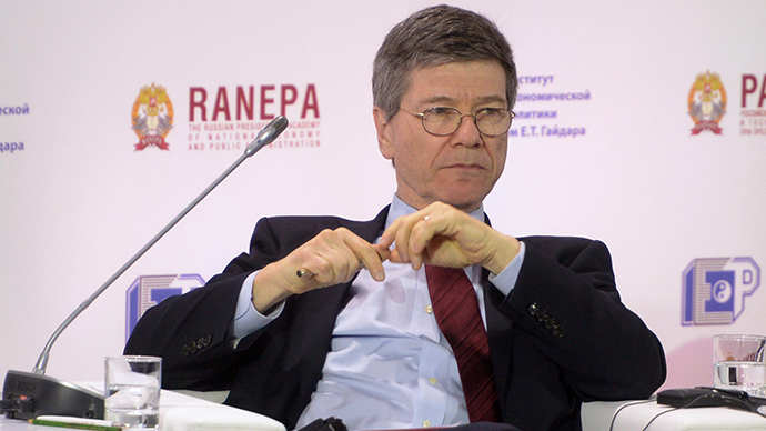 "Jeffrey Sachs, director of The Earth Institute at Columbia University, at the plenary discussion ""The Contours of the Post-Crisis World,"" held as part of the 2014 Gaidar Forum ""Russia and the World: Sustainable Development."" (RIA Novosti / Alexander Astafyev)"