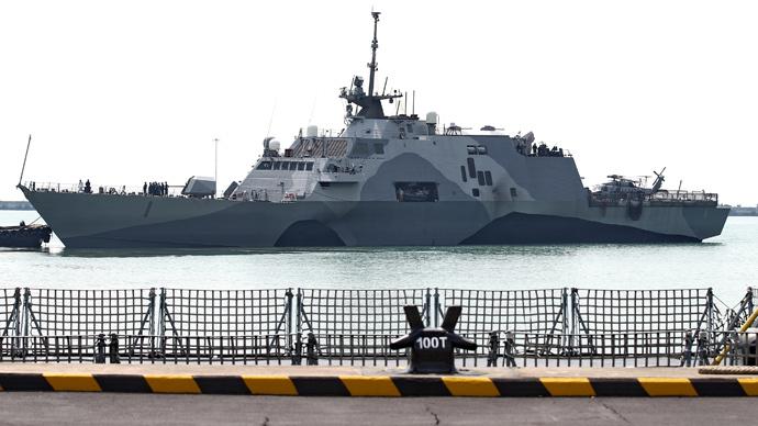 USS Freedom (AFP Photo / Zaobao Singapore Out)
