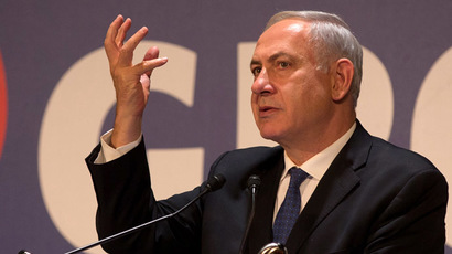Israeli Prime Minister Benjamin Netanyahu talks to the foreign press during the annual press conference for the New Year on January 16, 2014 in Jerusalem. (AFP Photo/Menahem Kahana)