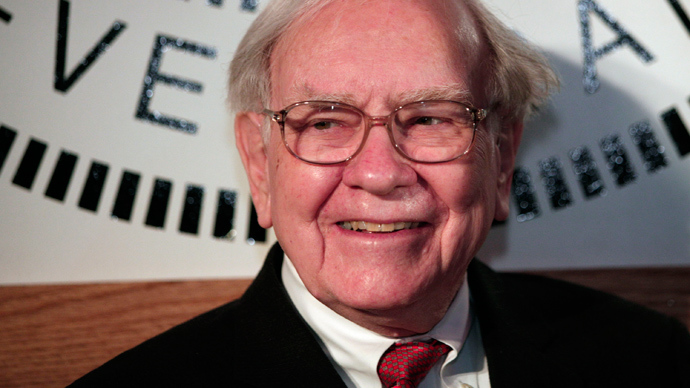 Warren Buffett, Chairman and CEO of Berkshire Hathaway and Co-Chairman of Goldman Sachs 10,000 Small Businesses Program (AFP Photo / Bill Pugliano)