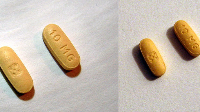 Zolpidem (brand names Ambien), a prescription medication used for the treatment of insomnia and some brain disorders. (Image from wikipedia.org)