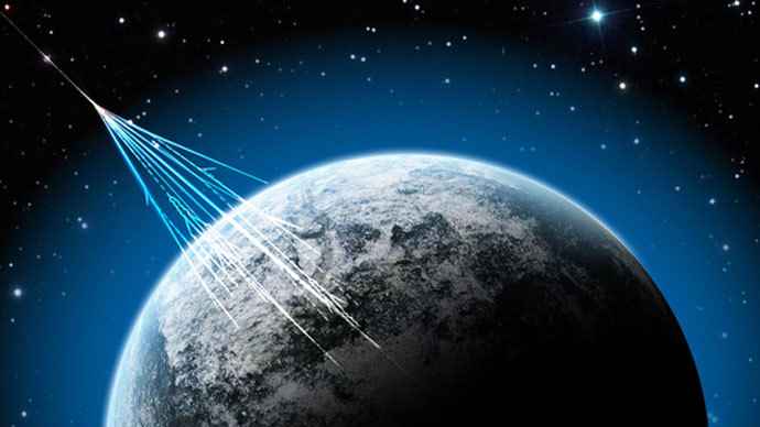 High-energy particles called muons created by cosmic rays striking the Earth's atmosphere could provide an X-ray-style image of the damage to the Fukushima Daiichi nuclear plant after the 2011 tsunami-related meltdown in Japan.(Image from nsf.gov / J. Yang)