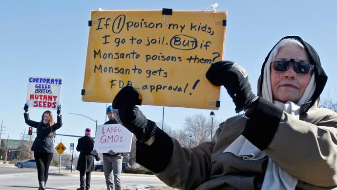 Monsanto protesters arrested outside shareholder meeting