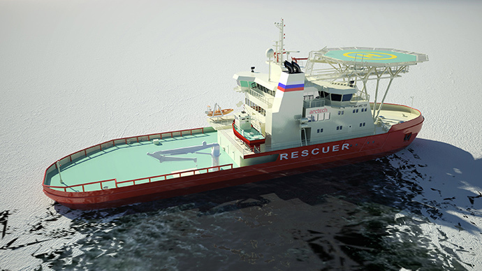 Icebreaking rescue vessel NB 508 (Image from arctech.fi)