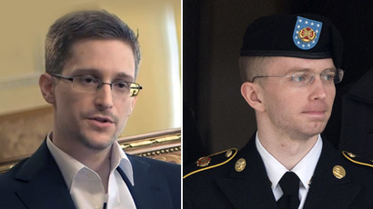 Edward Snowden (L) and Chelsea Manning (R) (AFP Photo)