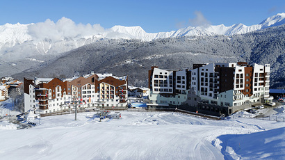 A general view of the accommodation at the athletes village in Rosa Khutor as preparations continue for the 2014 Sochi Winter Olympics February 1, 2014.  (Reuters / Mike Blake)
