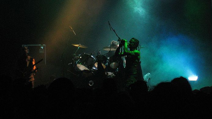 Skinny Puppy performing live at the London Astoria (image from Flickr by user zimpenfish)