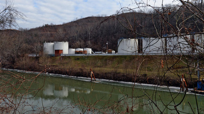 Freedom Industries on Barlow St on the banks of the Elk River is seen on January 10, 2014 in Charleston, West Virginia (AFP Photo /  Tom Hindman)