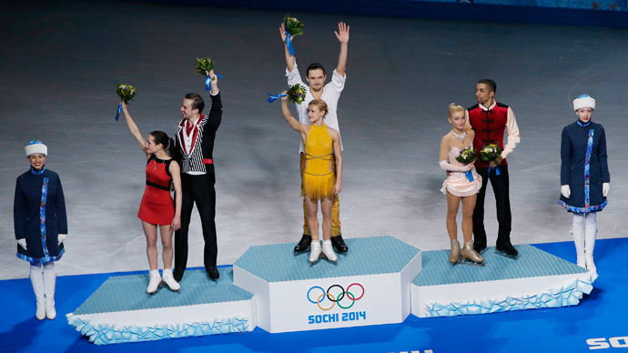 Sochi 2014 Olympics: Russia wins gold, silver in figure skating pairs (PHOTOS)