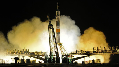 Launch of the Soyuz-FG rocket with the manned Soyuz TMA-08M spacecraft (RIA Novosti / Ramil Sitdikov)