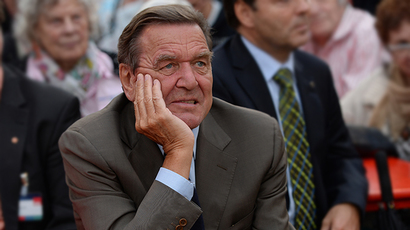 Former German Chancellor Gerhard Schroeder of German social democratic (SPD) (AFP Photo / Patrik Stollarz)