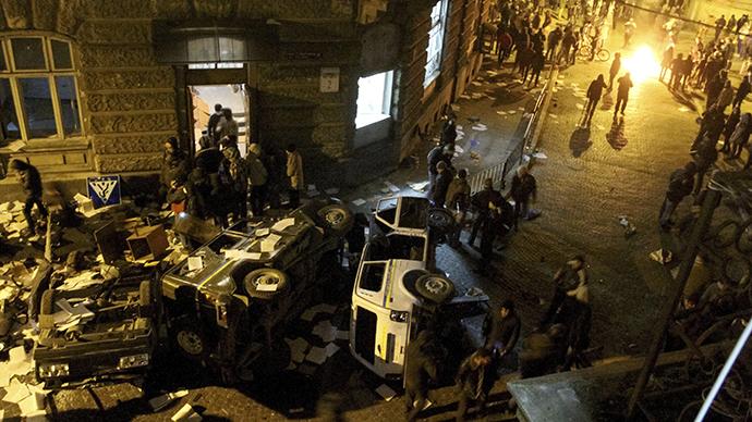 Violence engulfs regional centers of Ukraine