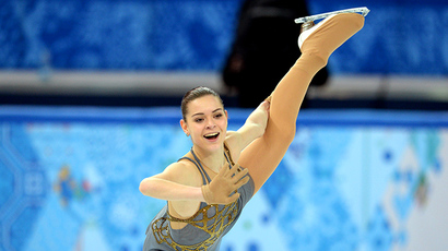 Russia's Adelina Sotnikova performs in the Women's Figure Skating Free Program at the Iceberg Skating Palace during the Sochi Winter Olympics on February 20, 2014. (AFP Photo / Yuri Kadobnov)