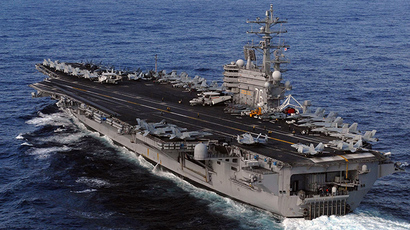 US aircraft carrier USS Ronald Reagan (AFP Photo / US Navy)