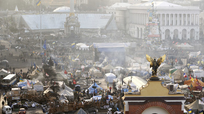 Independence Square in central Kiev, February 21, 2014. (Reuters/Vasily Fedosenko)