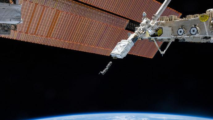 The Small Satellite Orbital Deployer, deploys a set of NanoRacks CubeSats.(Reuters / NASA)
