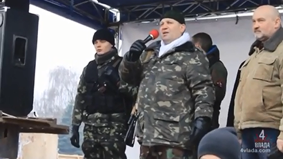 Ukraine far-right leader demands govt open arsenals for radical groups