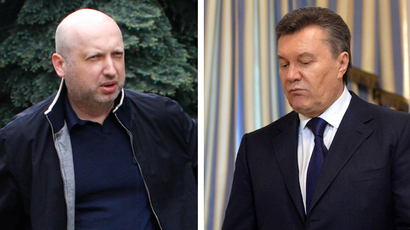 Combo of file pictures shows Aleksandr Turchinov (left) and Viktor Yanukovich (Reuters / Anatolii Stepanov, AFP Photo / Sergei Supinsky)