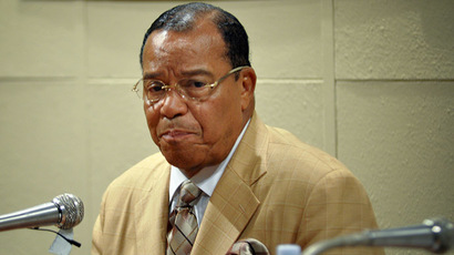 The leader of the Nation of Islam in the United States, Louis Farrakhan (AFP Photo)