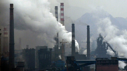 Smoke rises from chimneys and facilities of steel plants on a hazy day in Benxi, Liaoning.(Reuters / Sheng Li )