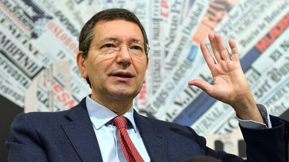 Ignazio Marino, Rome's mayor (AFP Photo/Gabriel Bouys)