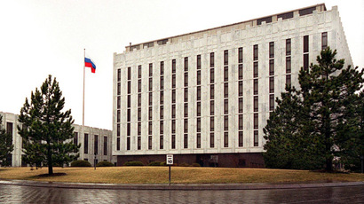 The Russian Embassy in Washington, DC. (AFP Photo/Shawn Thew)