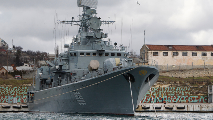 The Ukrainian Krivak class frigate Hetman Sahaydachny (Reuters / Gleb Garanich)