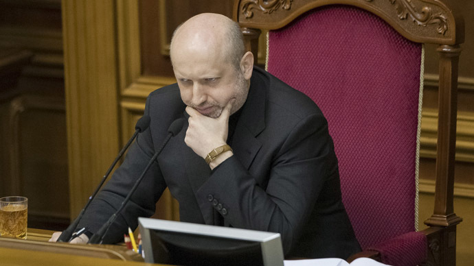 The self-proclaimed president of Ukraine Aleksandr Turchinov (Reuters/Alex Kuzmin)