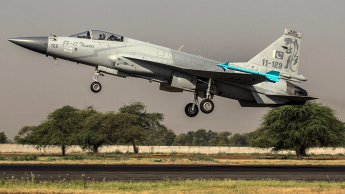 A JF-17 Thunder fighter jet of the Pakistan Air Force.(Reuters / Zohra Bensemra)