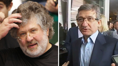 Combo made of file pictures shows businessman Igor Kolomoisky (left) and Serhiy Taruta, Ukrainian businessman (RIA Novosti / Nikolai Lysenko, wikipedia.org)