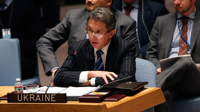 Ukraine's Ambassador to the United Nations Yuriy Sergeyev speaks during a Security Council meeting on the crisis in Ukraine, at the U.N. headquarters in New York March 3, 2014 (Reuters / Shannon Stapleton)