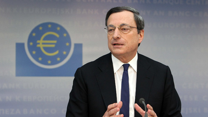 Mario Draghi, President of the European Central Bank, ECB addresses a press conference in Frankfurt am Main, central Germany, on March 6, 2014. (AFP Photo)