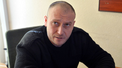 The leader of the Ukrainian radical group Right Sector, Dmitry Yarosh (AFP Photo/Sergei Supinsky)