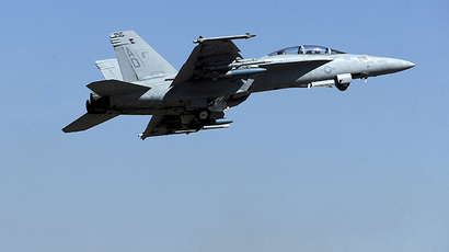 A Boeing F/A-18 Super Hornet (AFP Photo / Dibyangshu Sarkar)